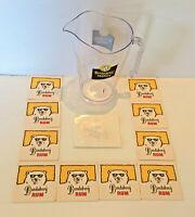 Bundaberg Rum Tropics Plastic Jug & Bundy Sticker & Vintage Bundy Drink Coasters