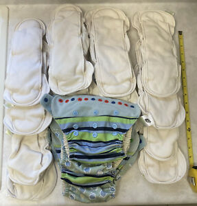 Organic Lot Grovia Organic Soaker Pads, cloth diapers Snap Shells Covers READ!