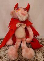 Vintage 1999 Pink Panther Plush Devil Doll Plush Kuddle Me Toys.
