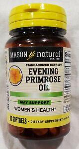 Mason Natural Evening Primrose Oil 60 Softgels 1000mg