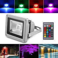 10W RGB Floodlight LED Colour Changing Outdoor Flood Lights with Remote Control