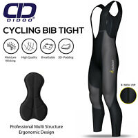 Didoo Mens Cycling Bib Tights Padded Thermal Long Leggings Winter Bike Trouser