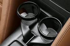 FIAT 124 SPIDER Set di 2 i porta tazza con finitura nera NUOVO ORIGINALE 71807617