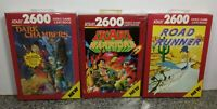 LOT OF THREE GAMES FOR ATARI 2600/7800 BRAND NEW VINTAGE RARE NOS OPEN BOX #11