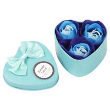 3Pcs Heart Scented Bath Body Petal Rose Flower Soap Wedding Decoration Gift Best