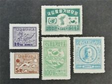 nystamps Korea Stamp # 119//123 Mint OG H / NG $30