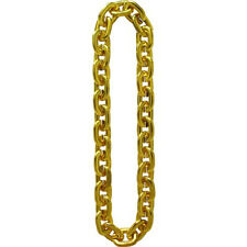 "36"" GOLD Large Jumbo Chain Link Mardis Gras Plastic Bling Gangster Necklace"