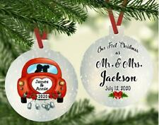 WEDDING MEMORIES 1st Christmas As Mr & Mrs Ornament Just Married Personalized