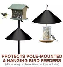 Squirrel Guard Baffle For Bird Feeder Wrap Around Galvanized Steel Black 17� New
