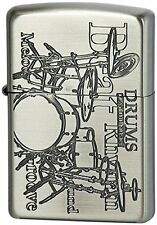 ZIPPO Oil Lighter Play The Music Drums nickel from Japan