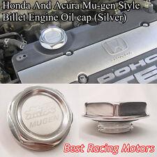 Mu-gen Style Billet Engine Oil Filler Cap Gen-1 (Silver) Fits Honda Acura