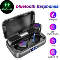4000mAh bluetooth Earphones TWS Wireless Headphones LED Stereo Earbuds Headset