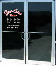 2 Color Custom Business Store Hours Sign Vinyl Decal Sticker 12x14