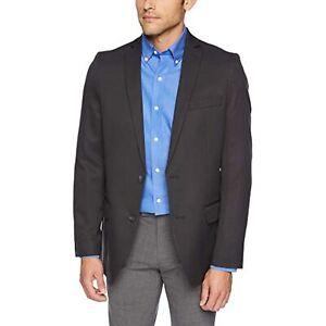 $200 Haggar Active Series Stretch Slim Fit Suit Separate Coat Black 44 R/M37.5