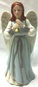HEAVENLY DUET 1422 SINGLE ANGEL HOLDING HORN HOME INTERIOR EXCELLENT CONDITION
