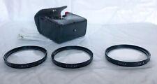 Vintage Vivitar 55mm Close up 3 Filter Set, +1 / +2  / +4