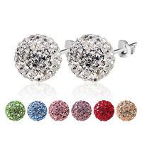 1 Paar Neu Frauen Mode Schmuck Kristall Strass Perlen Studs Ohrringe Pro