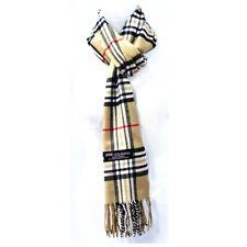 Winter Check Plaid Tartan Warm Wool SCOTLAND Made 100% CASHMERE Scarf Scarves