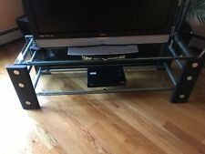 Costco(Slam brands ) Tv Stand Entertainment Media Center Black Metal And Glass.