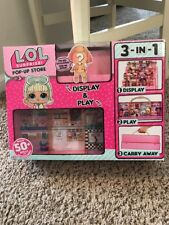 LOL Surprise Doll Pop Up Popup Store 3 in 1 Play Set Display Case Stand IN HAND