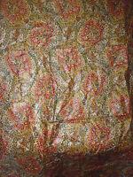 ancien tissu textile ameublement BOUSSAC coton glacé imprimé années 70 vintage