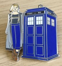 NEW THE 13th DOCTOR WHO AND TARDIS ENAMEL PIN BADGE - NEW RARE & COLLECTIBLE