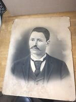 Antique Civil War era MAN  Pencil/Charcoal Sketch Drawing