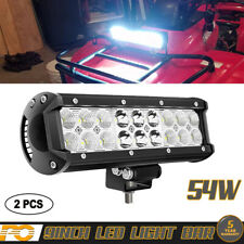 9inch  LED Flood Spot Combo Light Bar Offroad Driving Lamp SUV Truck ATV 2X