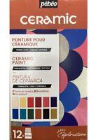 Pebeo Ceramic 12 x 20ml Paint Set Terracotta Pottery Earthenware Painting 757451