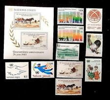 United Nations Geneva Complete year 1985 129-139 MNH