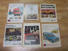 6 Vintage 1960's International Harvester Trucks & Scout Advertisments