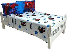 Marvel Spiderman 4 pc Full Bed Sheet Set Superhero Kids Room Decor 2 Pillowcases