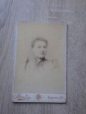 PHOTO TYPE CDV Portrait Femme AMERICAN WOMAN Studio Brady Orange N.J. USA 1880
