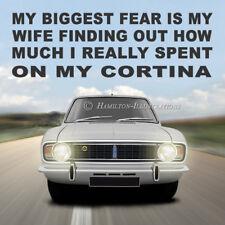 Ford Cortina Mk2 Lotus 1600E GT Novelty Drinks Coaster Birthday Gift WIFE