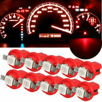 10Pcs T5 B8.5D Car Gauge 5050 1SMD Speedo Dashboard Dash Side LED Bulb Red