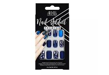 Ardell Professional Nail Addict False Nails Matte Blue 24ct Nails design Premium