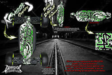 LOSI 8IGHT-T 4.0 CHASSIS WRAP 'GEAR HEAD' HOP UP DECAL SET FITS OEM PARTS GREEN