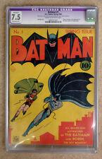 BATMAN #1 1940 SPRING ISSUE - CGC GRADED 7.5!