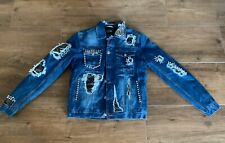 Neu Philipp Plein Jeans Jacke Denim Jacket Studs Gr L Neu