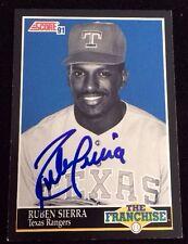 RUBEN SIERRA 1991 SCORE THE FRANCHISE Autographed Signed AUTO Baseball Card 859