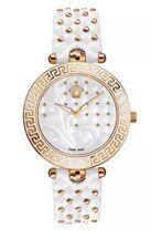 £ 1,880 VERSACE Designer Vetro Zaffiro Bianco & Rose Gold Watch Swiss Made