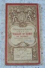 Ordnance Survey Third Edition 1-inch map Sheet 91 Valley of Towy, on cloth, 1914