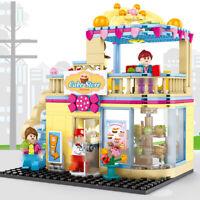 366Pcs City Cake Shop Building Blocks set with Figures Street View Toys Bricks
