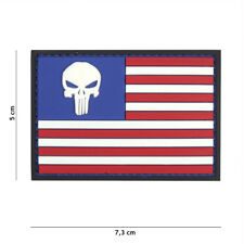 AIRSOFT morale patch PVC Punisher USA flag