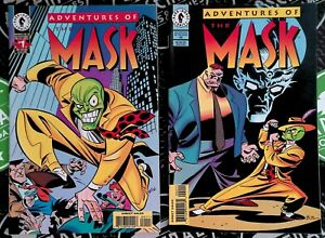 Adventures of The Mask #1 & 2 1996 Dark Horse Comics Stanley Ipkiss Bruce Timm