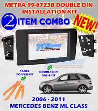 2003 - 2011 MERCEDES BENZ ML CLASS DOUBLE DIN CAR STEREO INSTALLATION DASH KIT 2