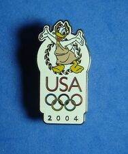 Donald Duck USA Olympic Logo 2004 Olympic Rings Disney Pin