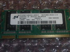 Dell 128 mb pc2100 266mhz PORTATILE MEMORY 3y180