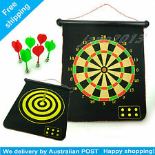 Magnet Dartboard Roll up With 6 Magnet Darts Double Sided Kids Birthday Gift