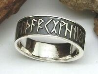 Runen Ring 925 Silber Ring Futhark Bandring Kelten Germanen